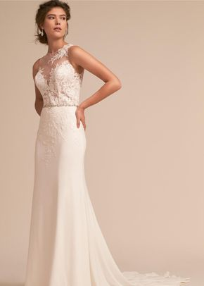 BHLDN Lou Gown, Adrianna Papell Platinum