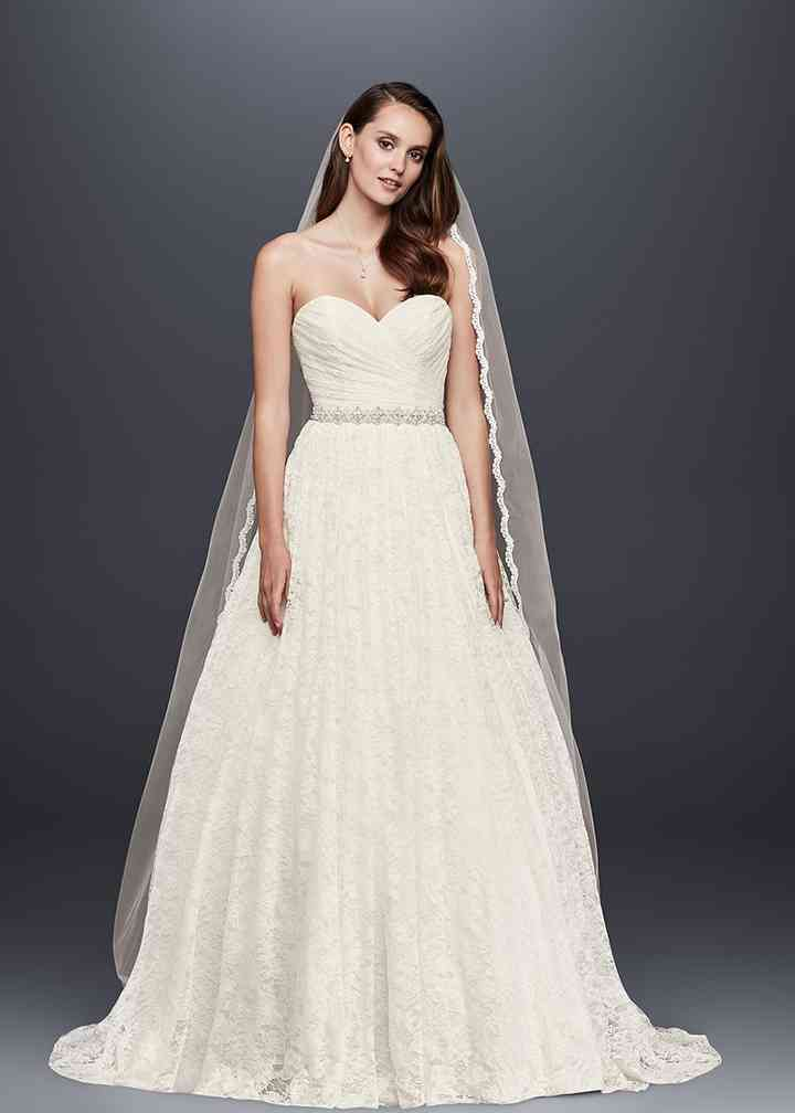 David's Bridal Collection Style WG3829, Adrianna Papell Platinum