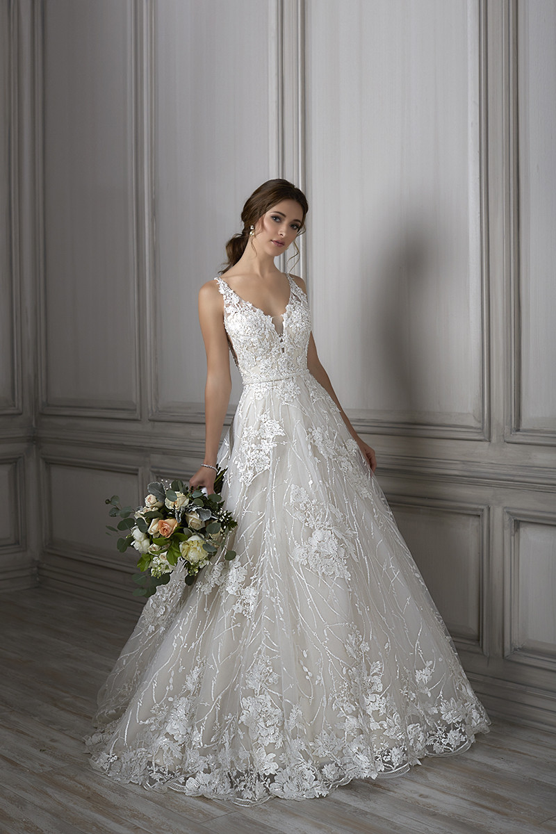 louisa aline wedding dress by adrianna papell platinum
