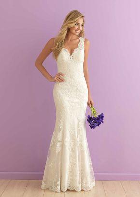 2912 A Line Wedding Dress By Allure Romance Weddingwire Com