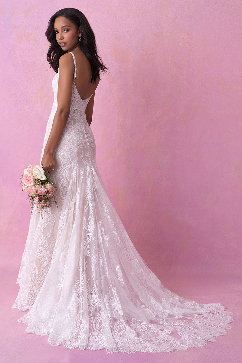 3156 sheath wedding dress by allure romance