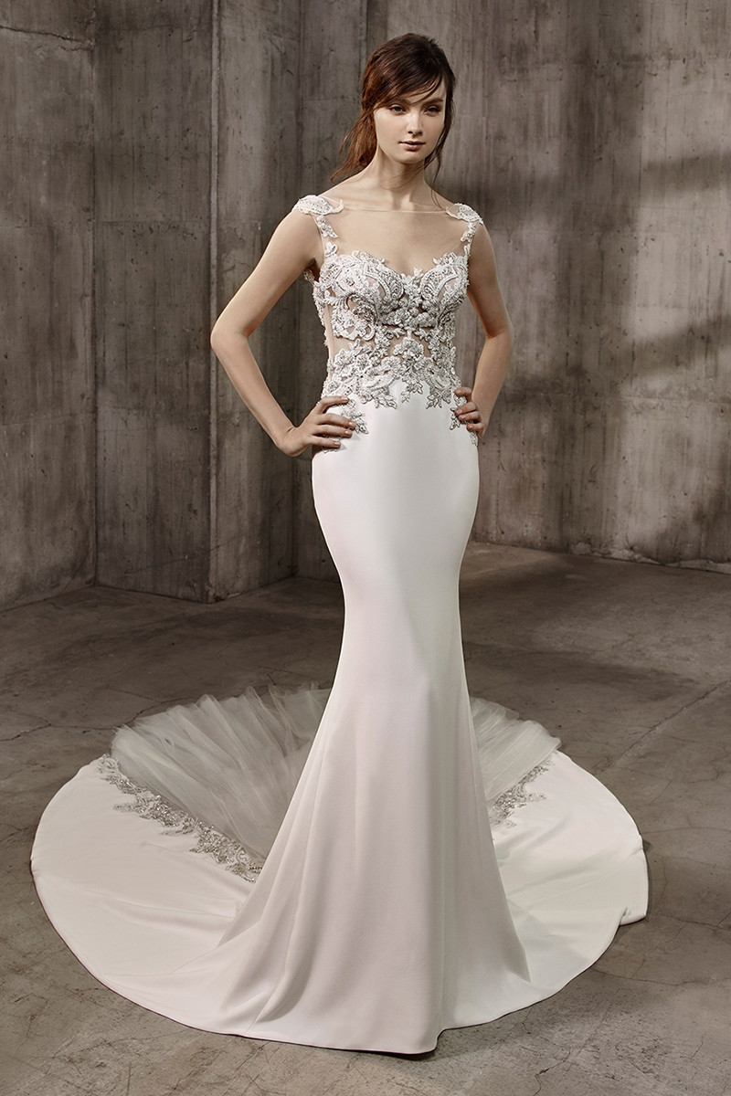 Asha Mermaid Wedding Dress By Badgley Mischka Bride