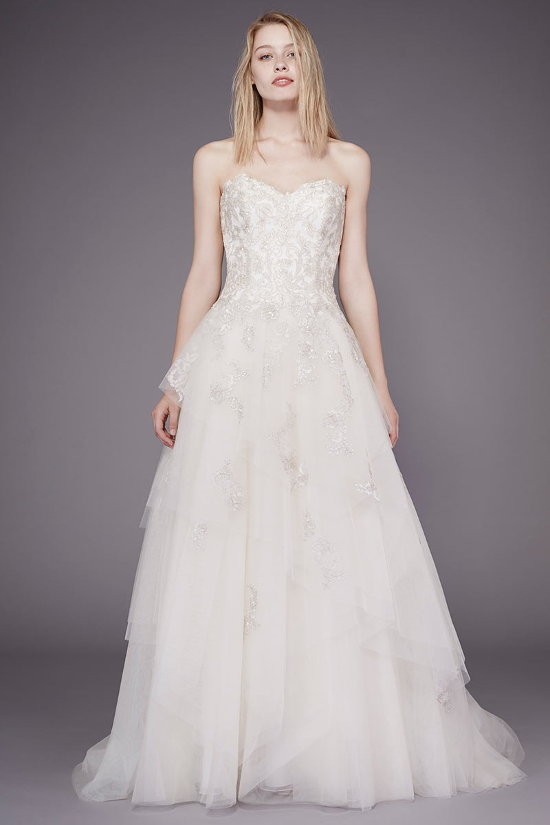 Mae a line wedding dress by badgley mischka bride for Wedding dress badgley mischka