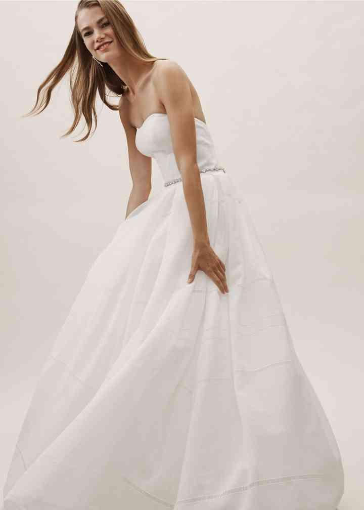 BHLDN Bellevue Linen Gown, BHLDN