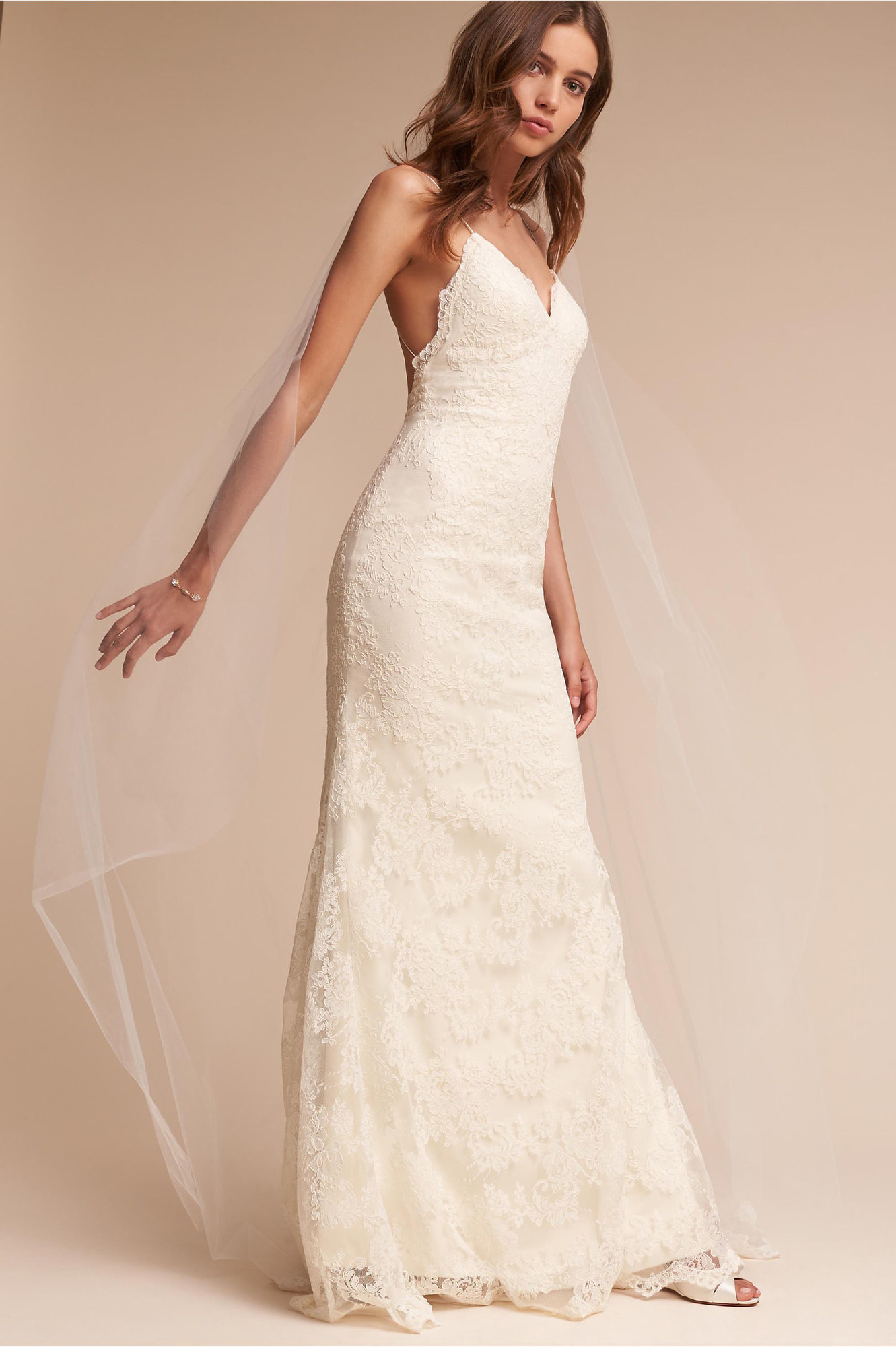 Inez Gown Sheath Wedding Dress By Bhldn Weddingwire Com