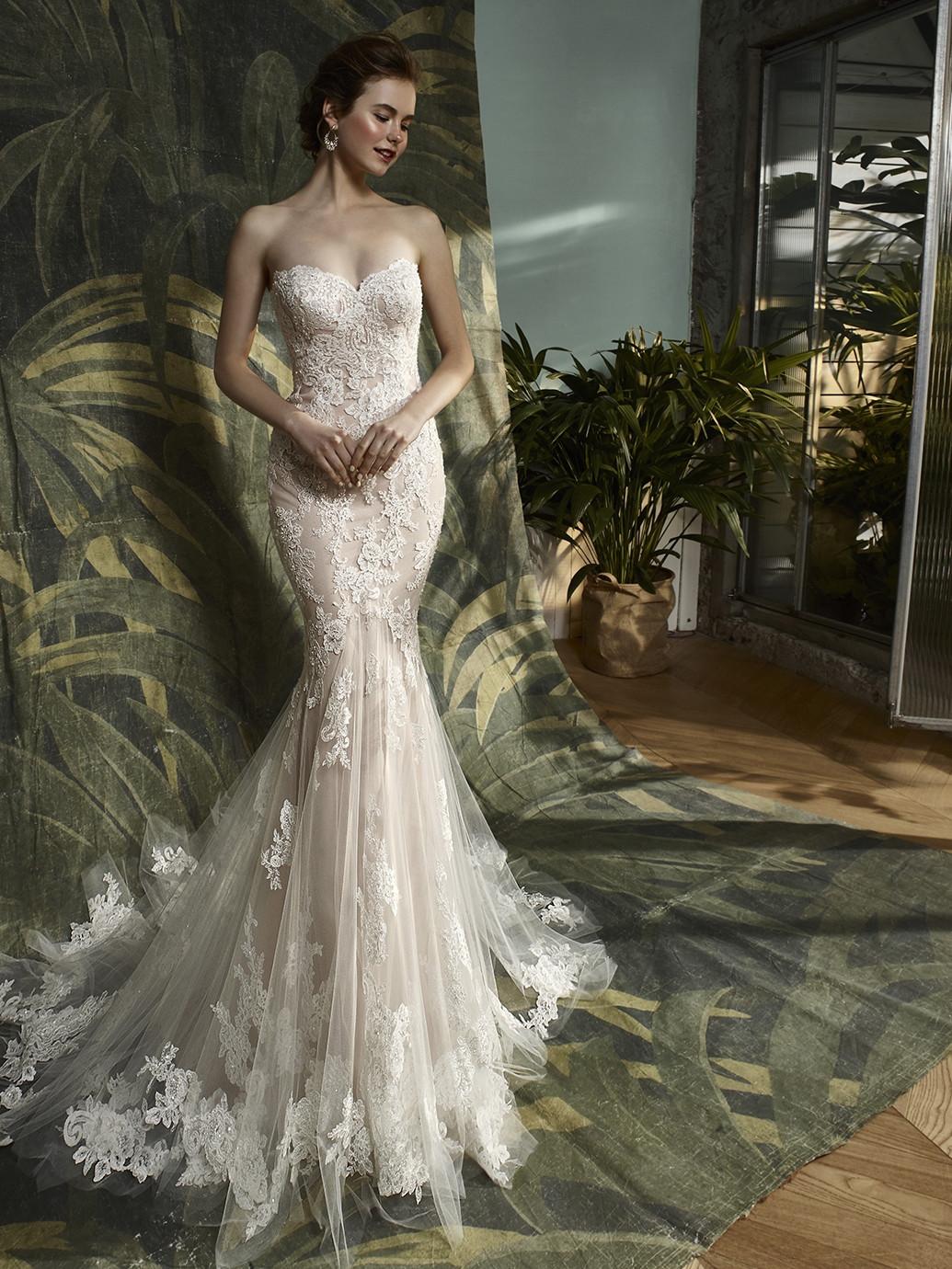 Katerina mermaid wedding dress by blue by enzoani Wedding dress design tool