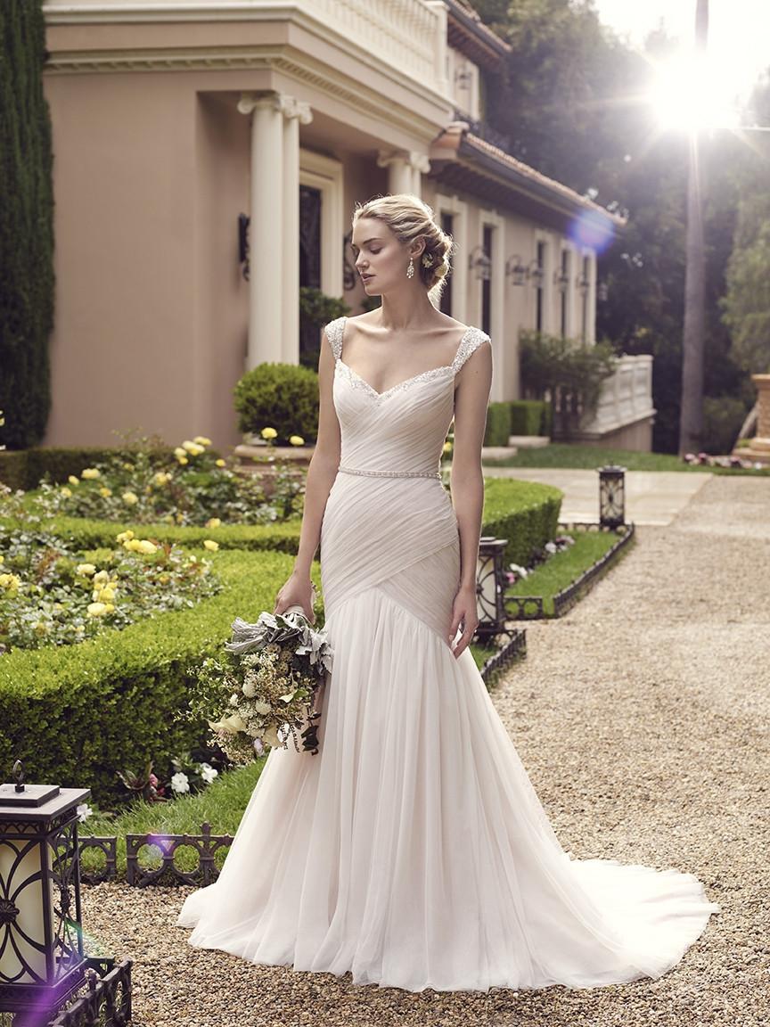 2234 Flared Cut Fit N Flare Wedding Dress By Casablanca