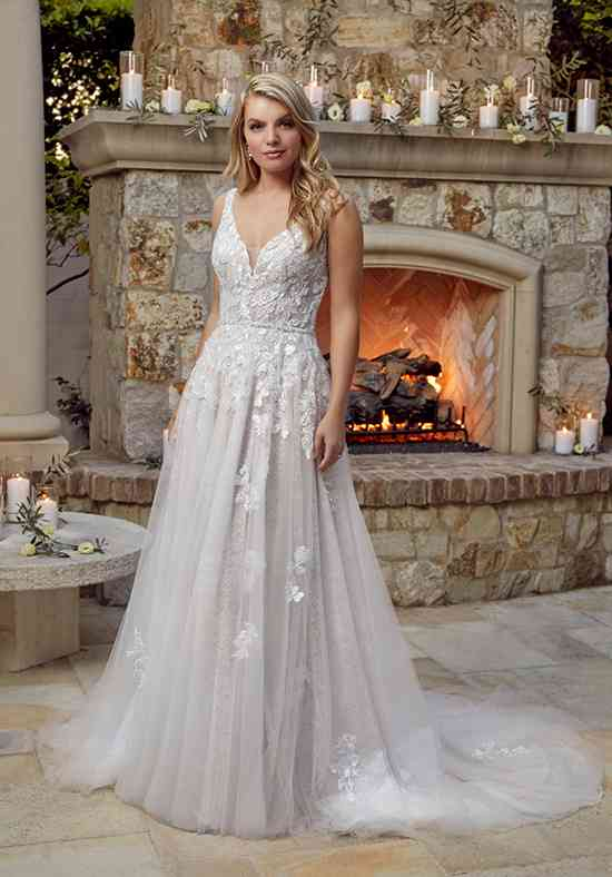 a line wedding dress