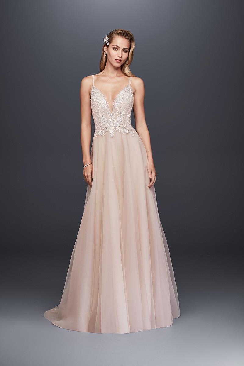 David's Bridal SWG784 A-line Wedding Dress by David's ... - photo #16