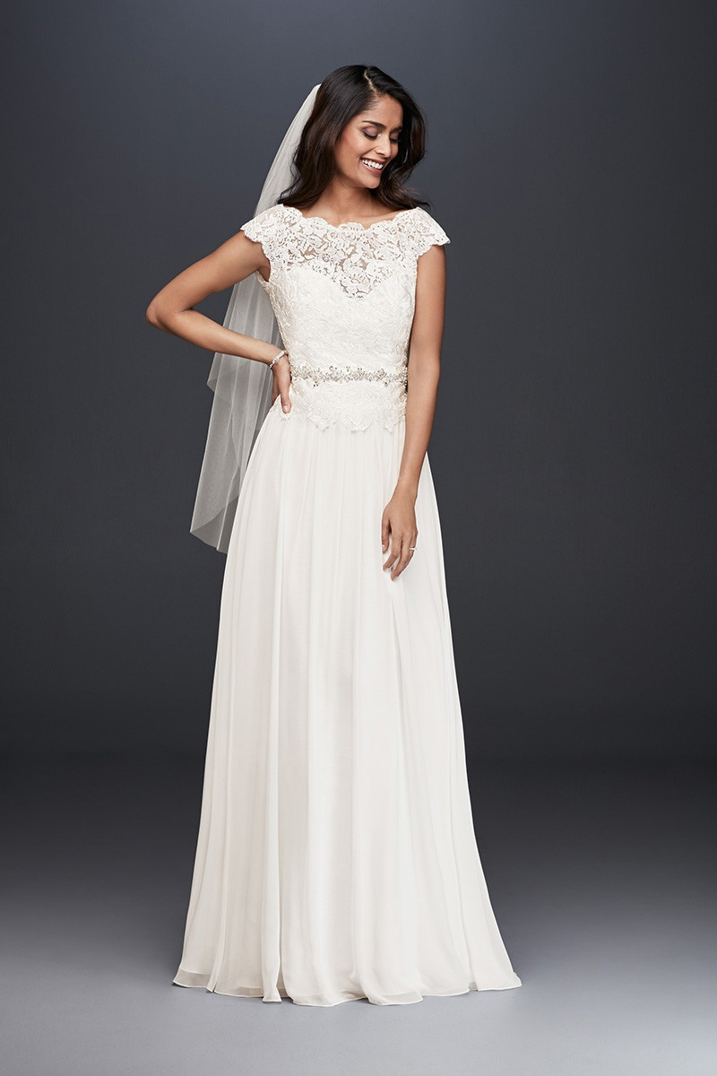 High neck wedding dress photos high neck wedding dress for Simple wedding dresses for small wedding