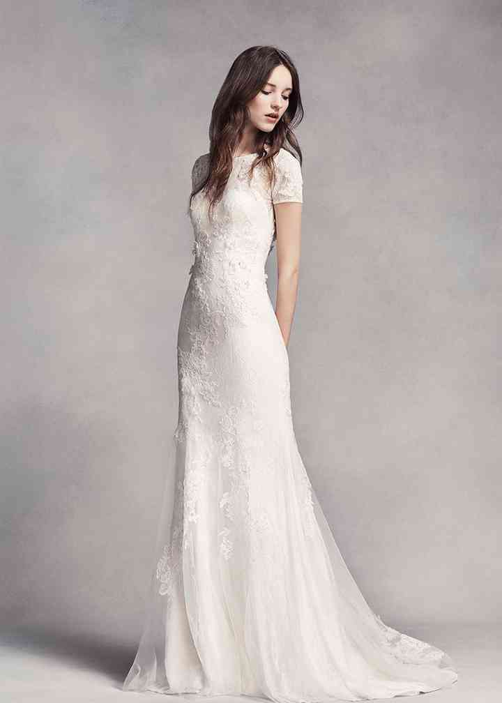 White by Vera Wang Style VW351312, David's Bridal