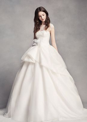 White by Vera Wang Style VW351315, David's Bridal