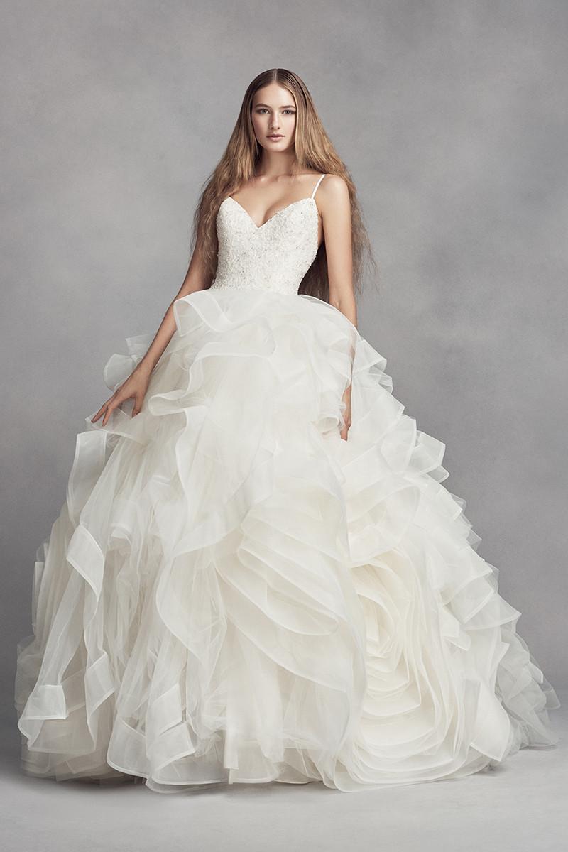 Ruffled Wedding Dresses