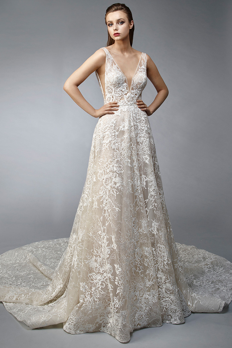 Nirvana A Line Wedding Dress By Enzoani Weddingwire Com