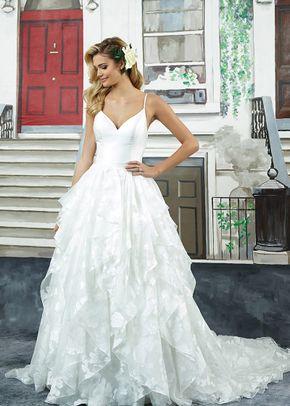 8942 A Line Wedding Dress By Justin Alexander