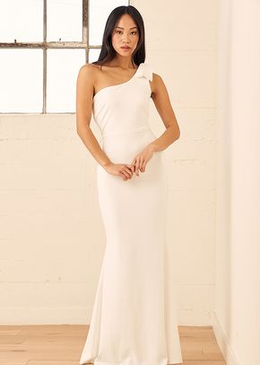 All Your Adoration White One-Shoulder Mermaid Maxi Dress, 4413