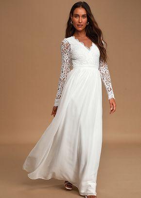 Awaken My Love White Long Sleeve Lace Maxi Dress, Lulus Bridal