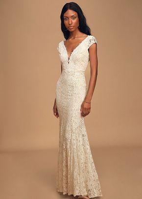 Icing on the Cake White Lace Short Sleeve Maxi Dress, Lulus Bridal