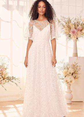Moment of a Lifetime White Embroidered Backless Maxi Dress, Lulus Bridal