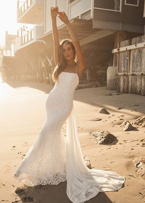 Remarkable Moment White Floral Embroidered Lace-Up Maxi Dress, Lulus Bridal