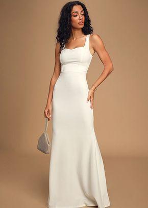 Sweetest Thing White Maxi Dress, Lulus Bridal