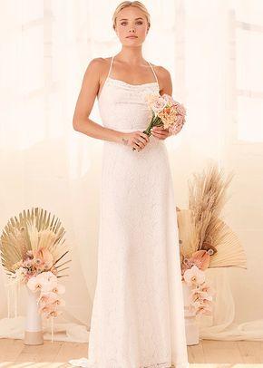 You and I White Lace Cowl Neck Lace-Up Mermaid Maxi Dress, Lulus Bridal