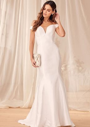 Vow to Love Off-the-Shoulder Mermaid Maxi Dress, Lulus Luxe Bridal