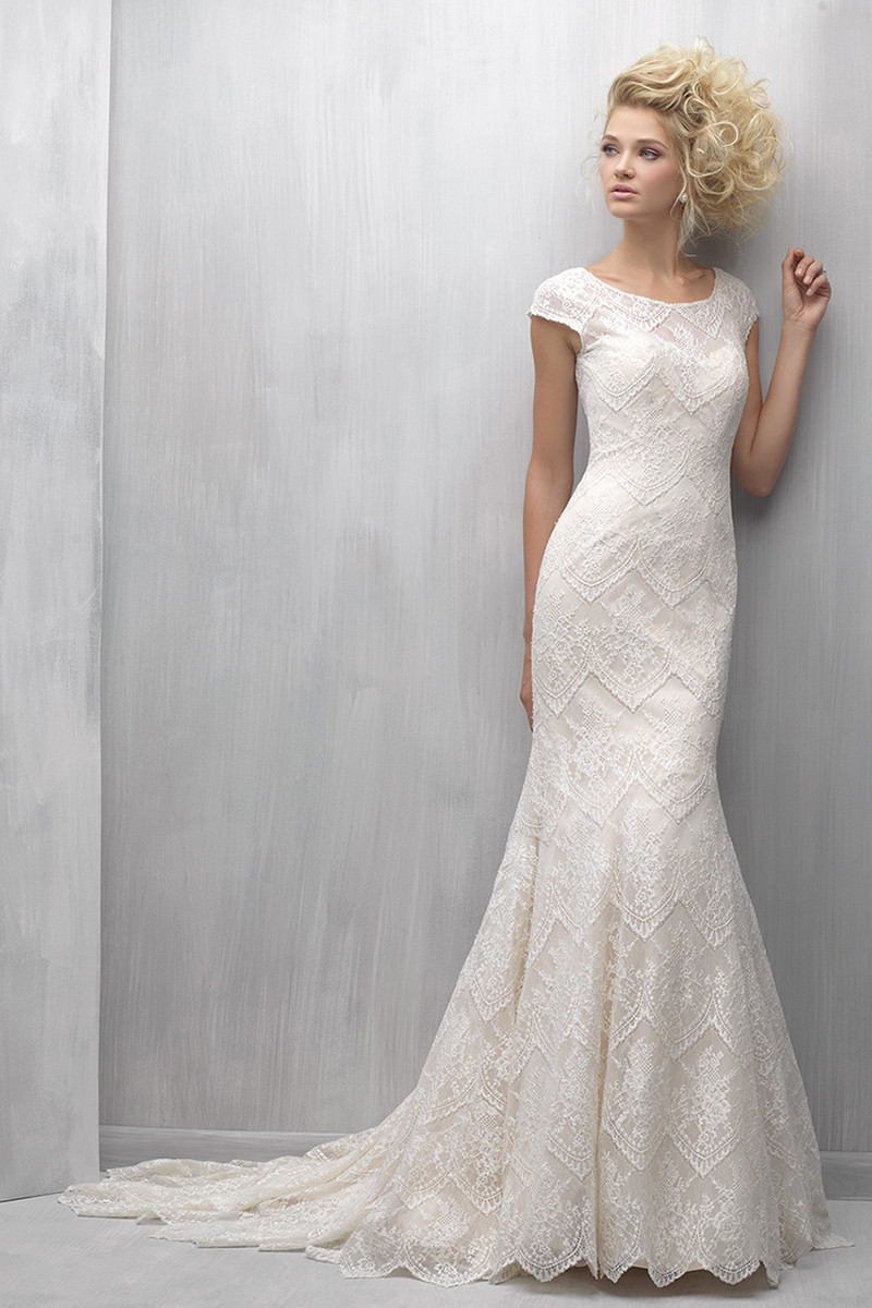 Mj258 sheath wedding dress by madison james for Madison james wedding dress prices