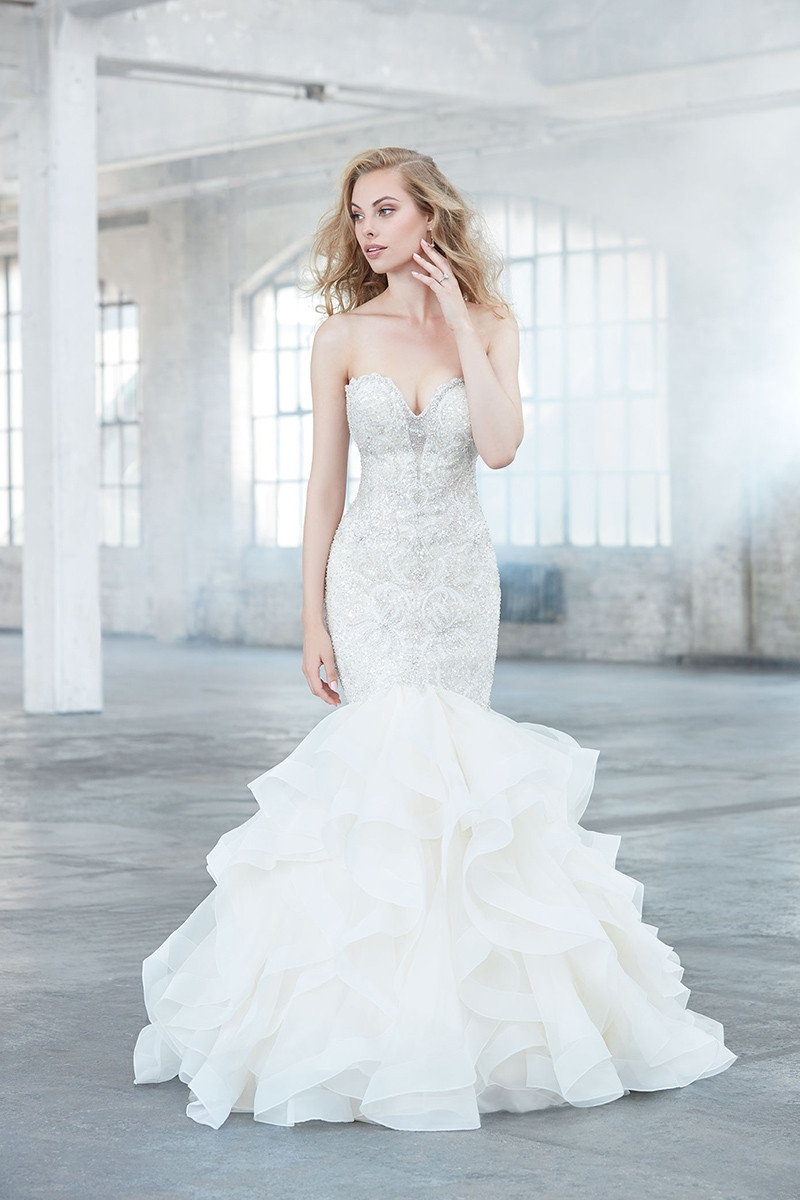 Mj301 mermaid wedding dress by madison james for Madison james wedding dress prices