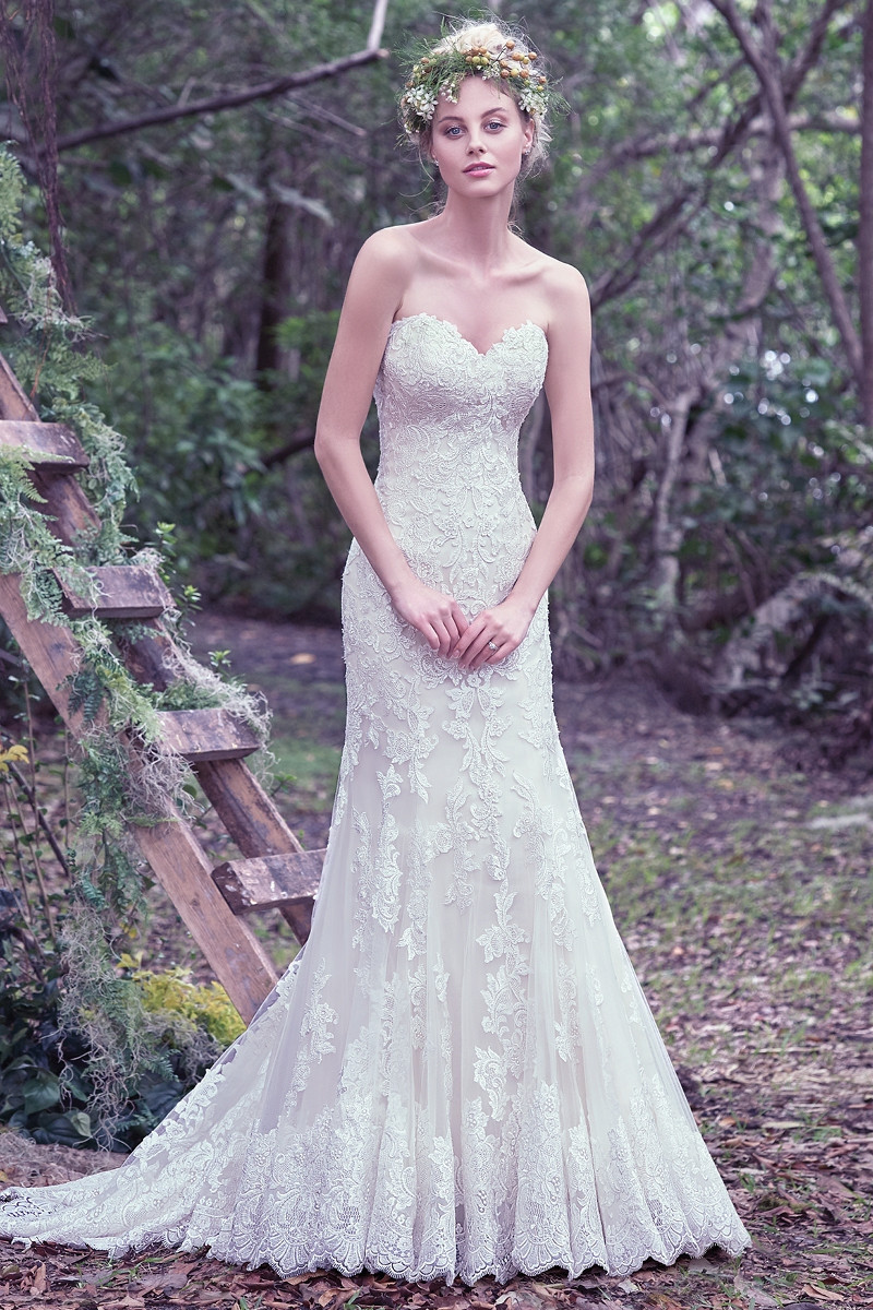 Jennita flared cut fit n flare wedding dress by maggie for Maggie sottero mckenzie wedding dress