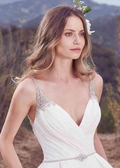 Kyra Flared Cut Fit N Flare Wedding Dress By Maggie Sottero Weddingwire Com