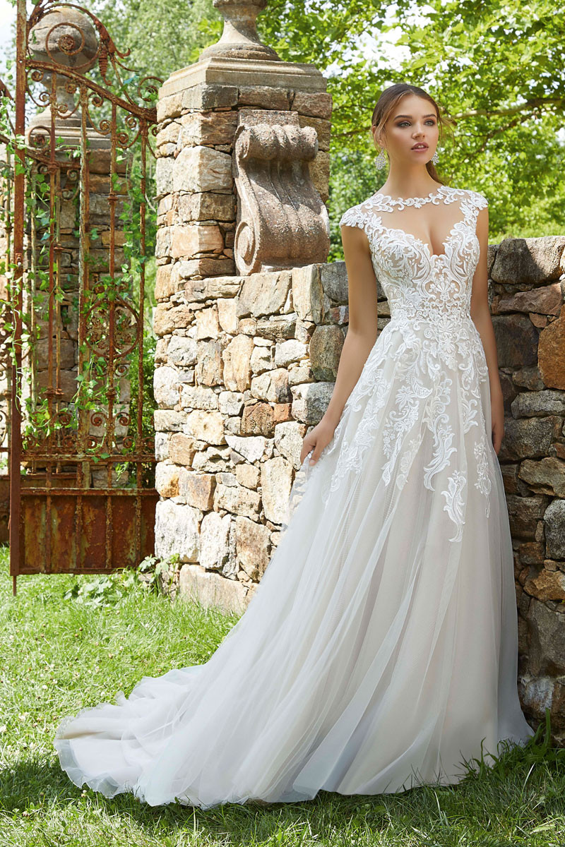 0417e333924c Cap Sleeve Wedding Dress Photos, Cap Sleeve Wedding Dress Pictures -  WeddingWire.com