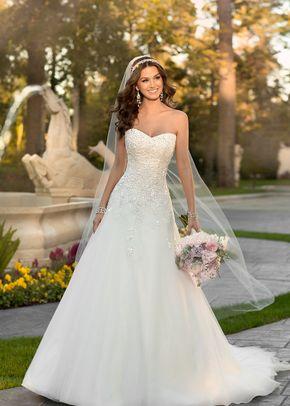 6555 A Line Wedding Dress By Stella York Weddingwire Com