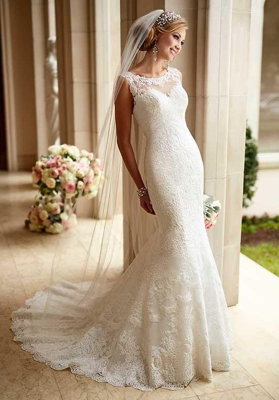 6125 Flared Cut Fit N Flare Wedding Dress By Stella York Weddingwire Com