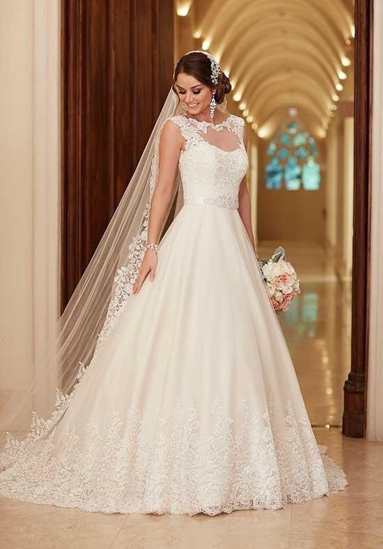 6152 A Line Wedding Dress By Stella York Weddingwire Com