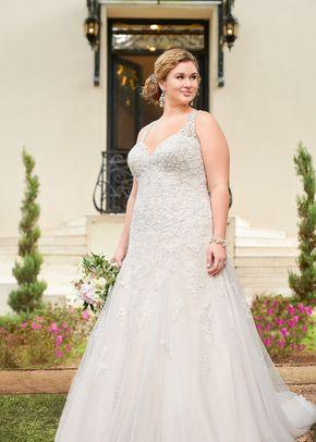 6416 Flared Cut Fit N Flare Wedding Dress By Stella York