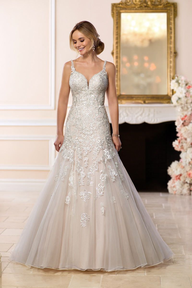 6601 a line wedding dress by stella york Wedding dress design app