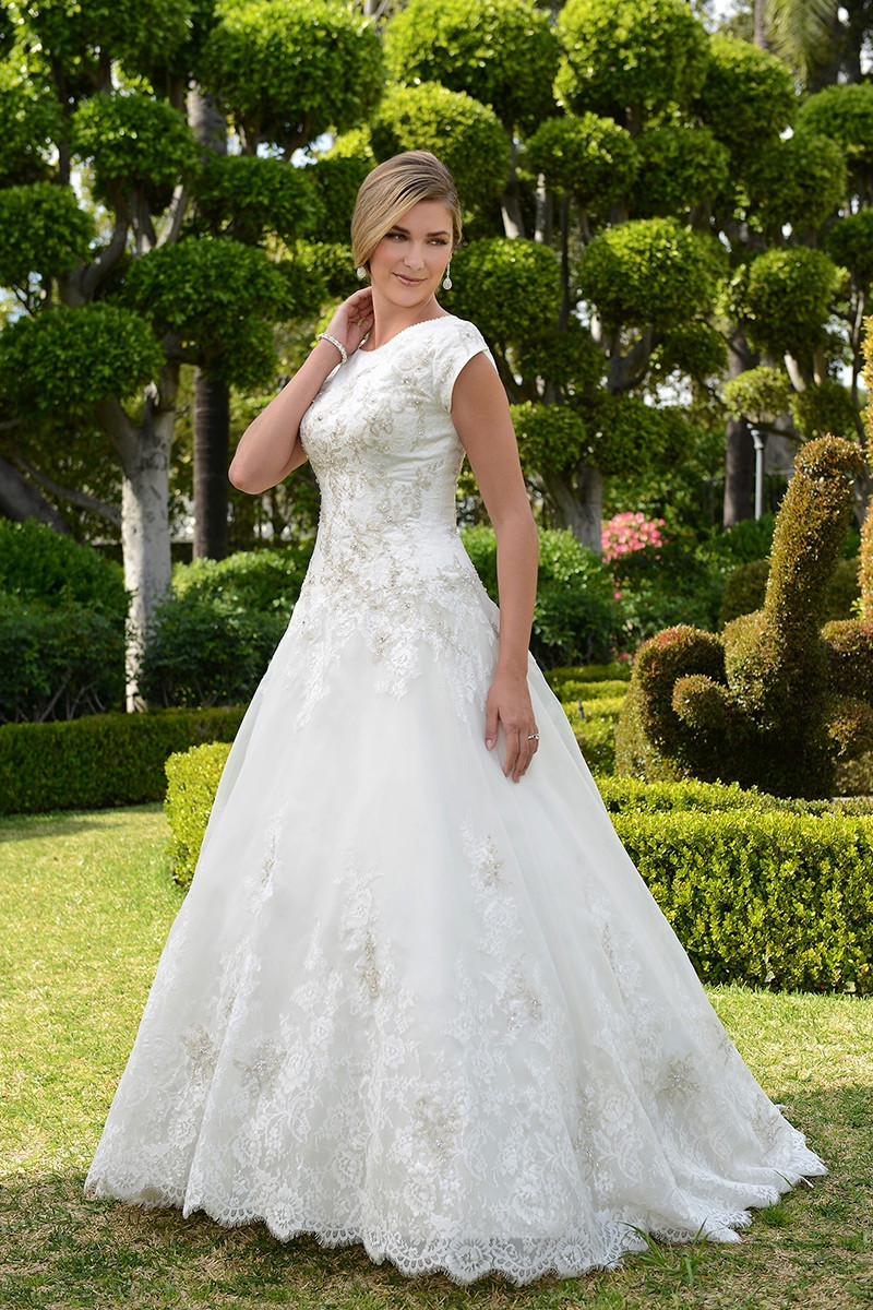 TB7718 A-line Wedding Dress by Venus Bridal - WeddingWire.com - photo #28