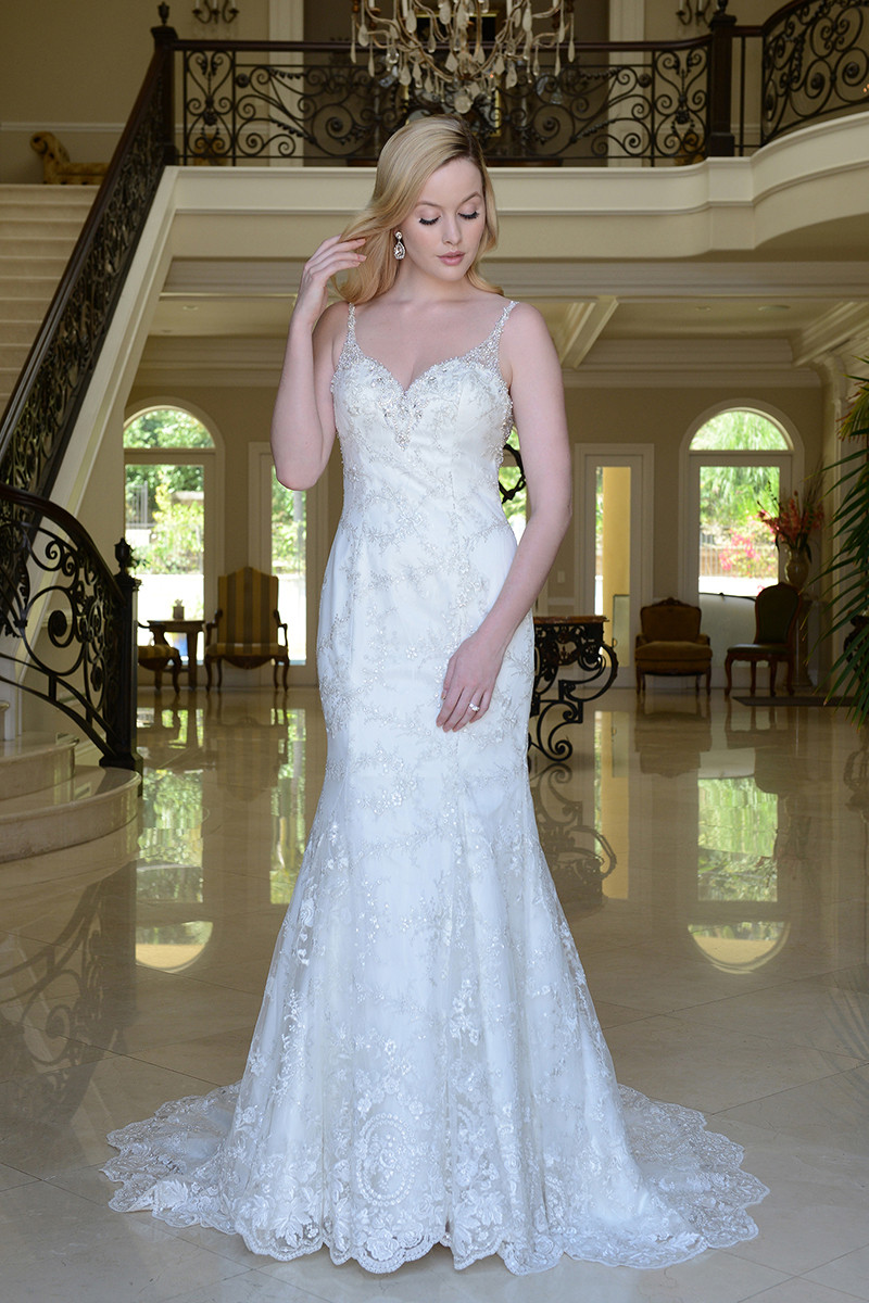 VE8764 A-line Wedding Dress by Venus Bridal - WeddingWire.com - photo #18