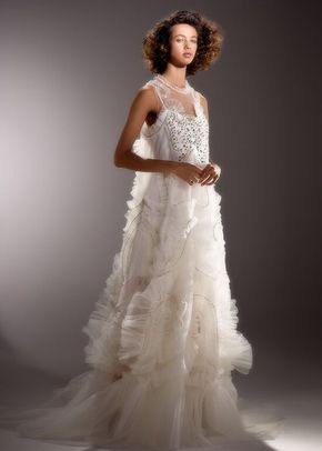 IMMACULATE TULLE SWIRL GOWN, 4423