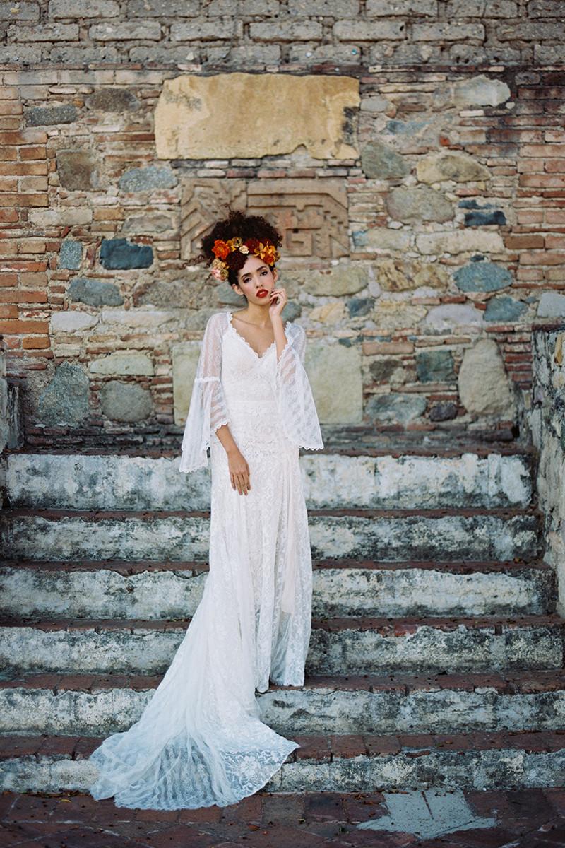 F144 Hazel Sheath Wedding Dress By Wilderly Bride