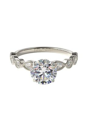 Round and Marquise Shape Diamond Engagement Ring, 4421