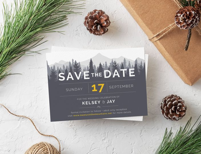 Forest & Mountain save the dates