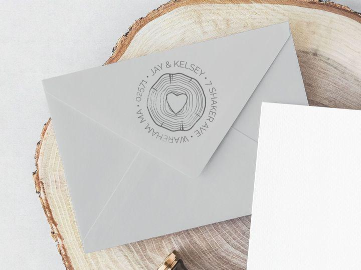 Tmx 1521745973 53ab04d464818490 1521745971 Ebc78dd8d9da2a84 1521745964708 7 ReturnStamp2 Acushnet wedding invitation