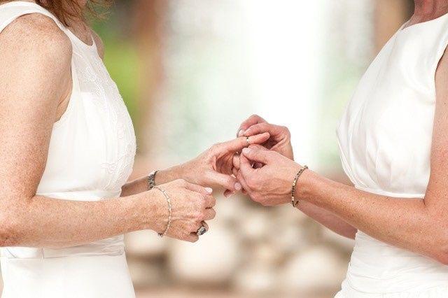 same sex lesbian wedding
