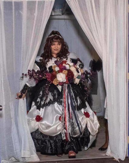 Bride making an entrance