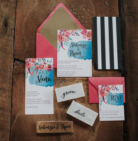 Pretty invitation set