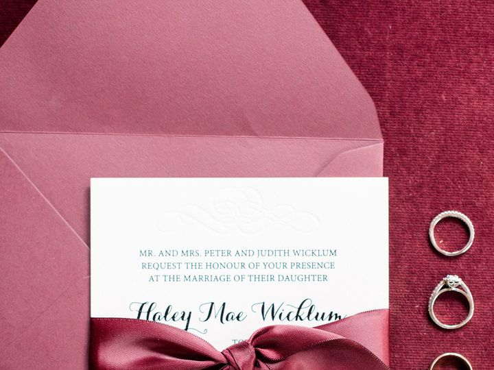 Tmx 1537100499 02ec62fac058bc3f HaleyTonyWedding LFP0008 Perkasie, Pennsylvania wedding invitation