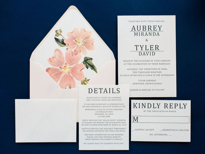 Tmx Dearly Invited Wedding Invitations Andrea Krout Photography 42 51 561000 1561945920 Perkasie, Pennsylvania wedding invitation