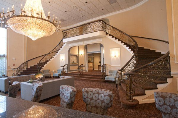 Stunning new lobby with circular staircase